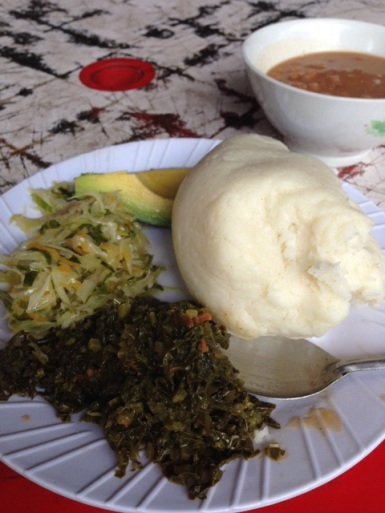 The weird white thing is Ugali