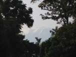 Kilimanjaro-as usually covered in fog
